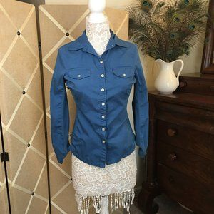 Converse One Star Button Down Blouse
